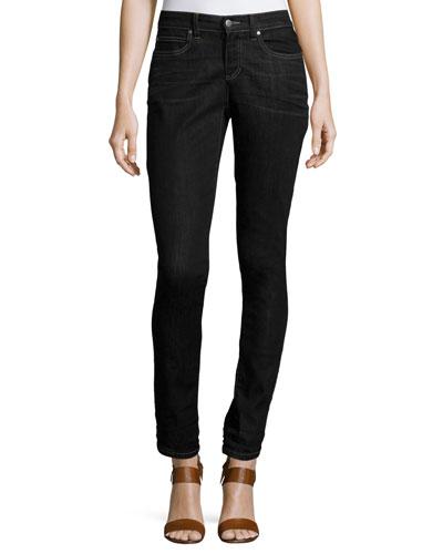 Stretch Skinny Jeans, Vintage Black, Petite