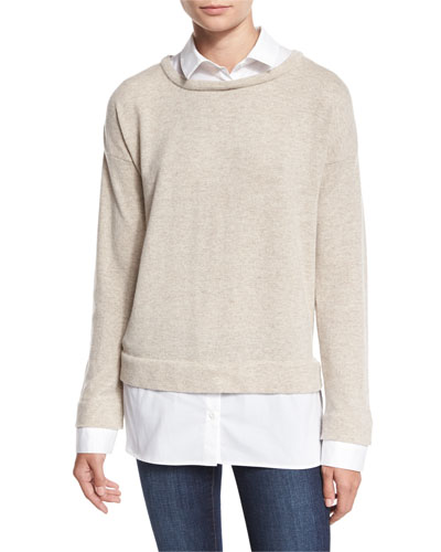 Layered Long-Sleeve Twofer Top