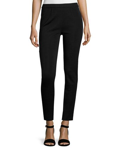 Slim-Leg Pull-On Pants, Plus Size