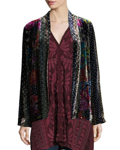 Tappa Silky Velvet Print Jacket