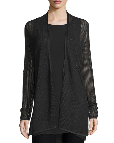 Pointelle Long Cardigan, Petite
