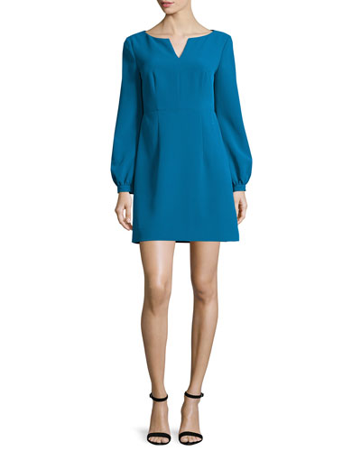 Molly Italian Cady Mini Dress, Azure