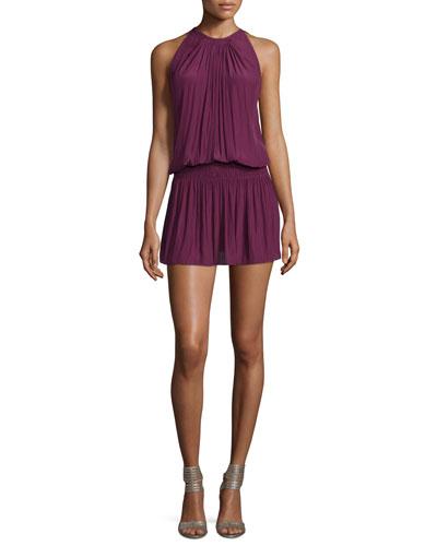 Paris Sleeveless Blouson Dress, Sangria