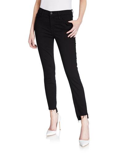 Le Skinny de Jeanne Raw Stagger-Hem Jeans