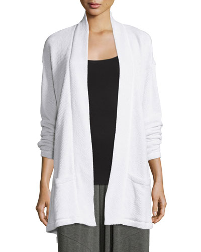Twisted Organic Cotton Terry Kimono Cardigan