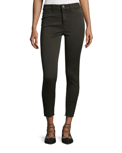 No. 2 Super Skinny Ultra High-Rise Ankle Jeans, Grassland