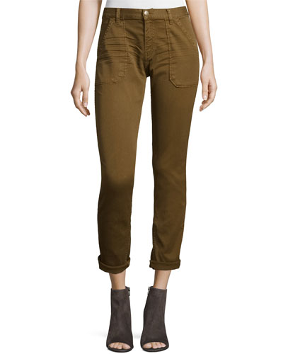 Sally Cropped Jeans, Khaki