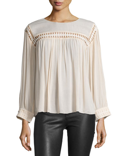 Jimmy Cutout Long-Sleeve Blouse