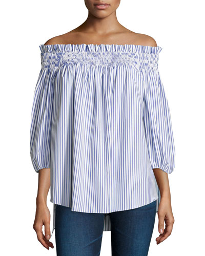 Lou Off-The-Shoulder Striped Top