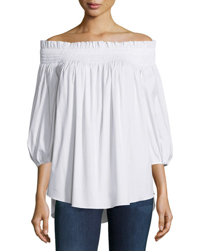 Lou Off-The-Shoulder Solid Top