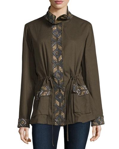 Long Sleeve Embellished Eagle Jacket