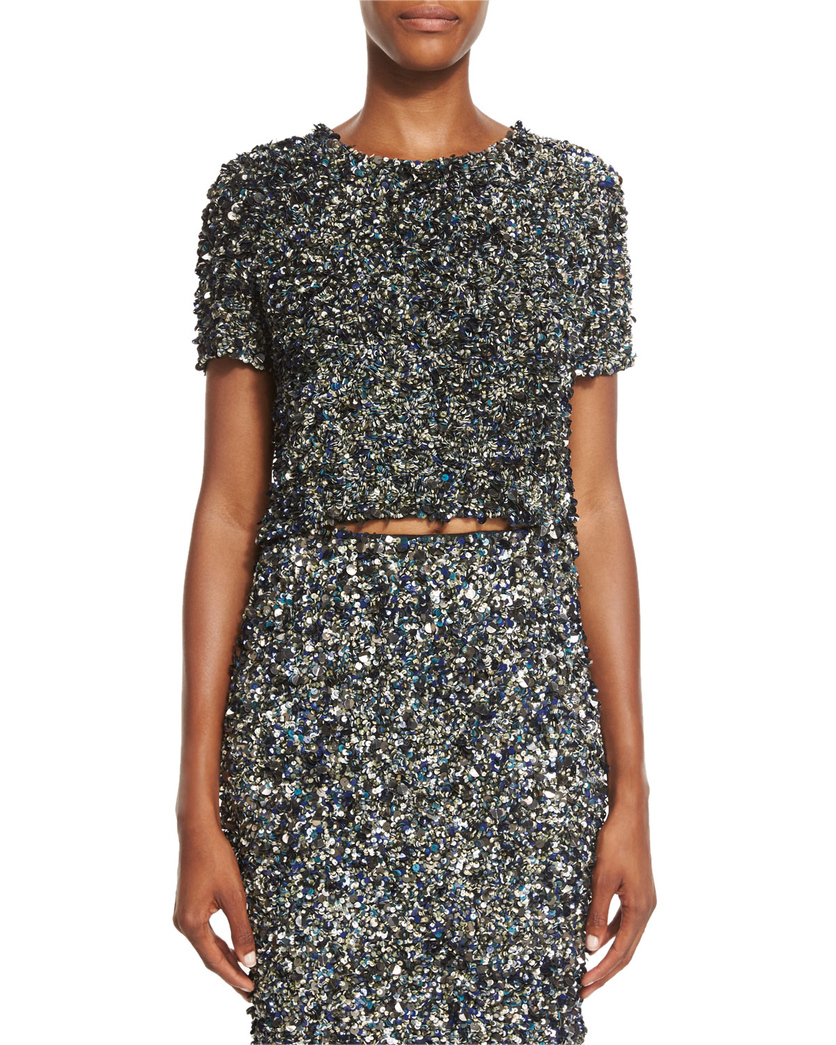 Mosaic Sequin-Embellished Top, Multi