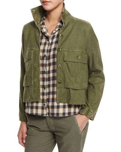 The Swingy Army Jacket, Hunter Green