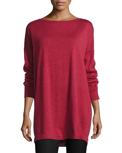 Merino Jersey Long Tunic, Plus Size