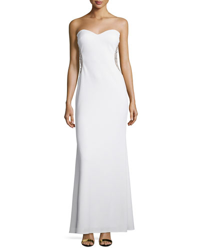 Strapless Sweetheart Gown, Ivory