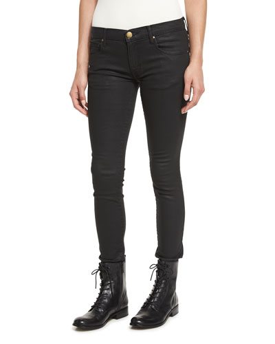 The Skinny Skinny Coated Jeans, Black