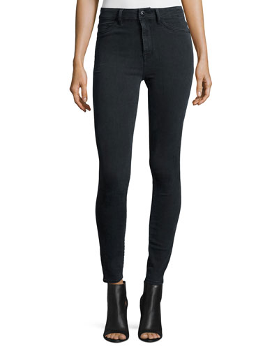 No. 1 Super Skinny Ultra High-Rise Ankle Jeans, Battle