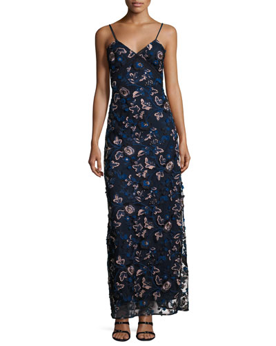 Eva Embroidered Floral Slip Dress