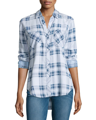 Carter Plaid Chambray Shirt, Pigment Plaid