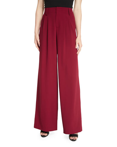 Eloise Wide-Leg Trousers, Wine