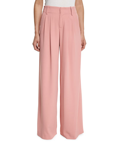 Eloise Wide-Leg Trousers, Pink