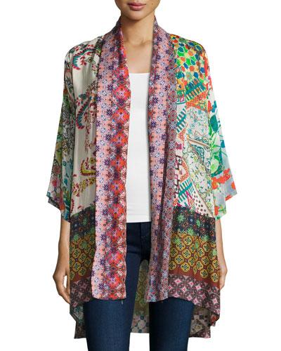 Dream Kimono-Style Printed Jacket, Plus Size