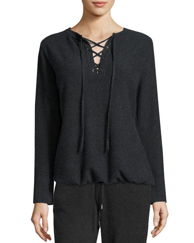 Cashmere Lace-Up Top