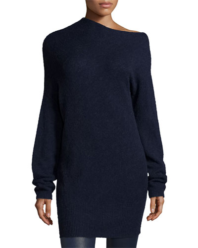 Brady Oversized Wool-Blend Sweater, Royal