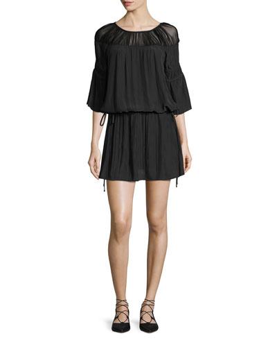 Celeste 3/4-Sleeve Blouson Dress