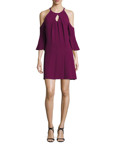 Evette Cold-Shoulder Dress, Sangria