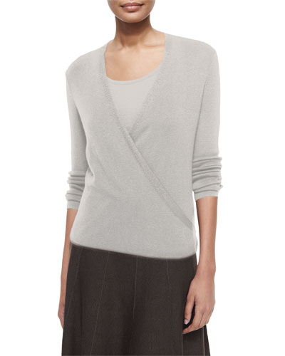 4-Way Lightweight Cardigan, Silver Cloud