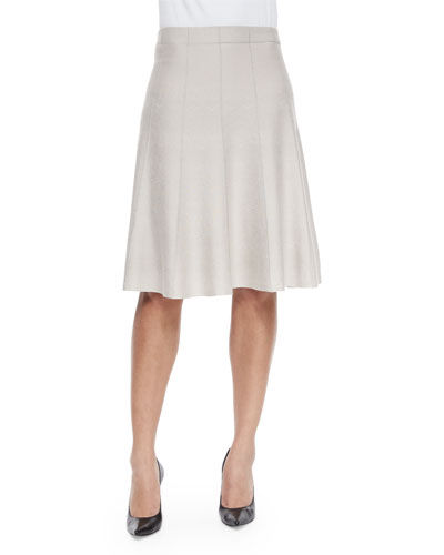 Paneled Twirl Skirt, Silver Cloud, Plus Size