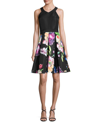 Illusia Floral-Print Cocktail Dress