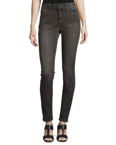 Ami Distressed Super-Skinny Jeans, Dorchester