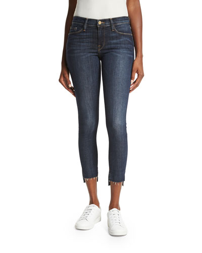 Le Skinny de Jeanne Stagger Raw-Hem Jeans, Perry Street