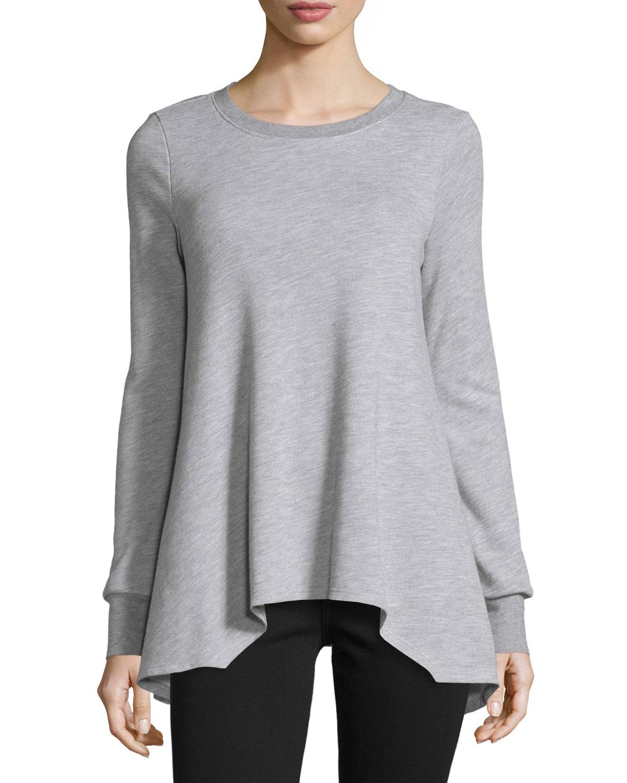 Lucai Heathered Terry Sweater, Gray