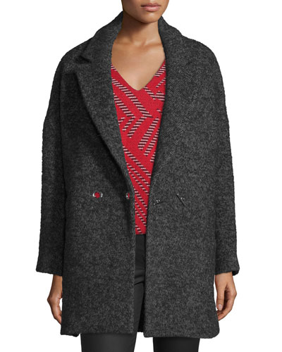 Ming Tweed Wool-Blend Car Coat
