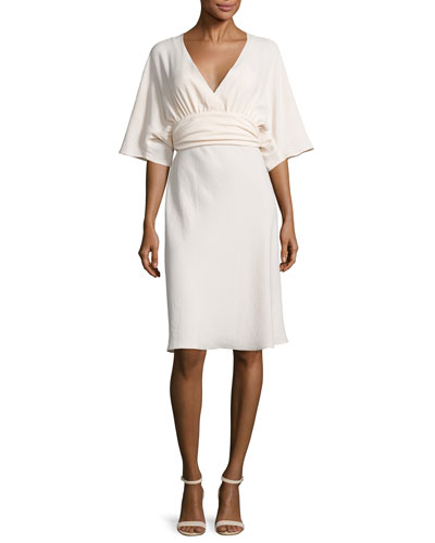 Miranda Belted Kimono Dress, Nude