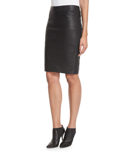Queen Leather Pencil Skirt