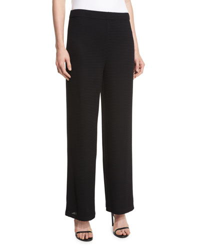 Rochelle Wide-Leg Pants, Black