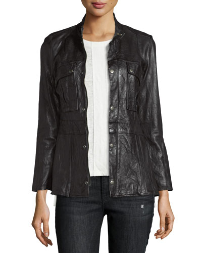 Vintage Leather Jacket, Noir