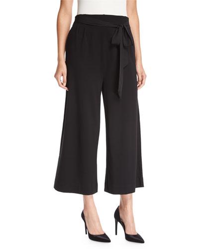 Lightweight Ponte Culotte Pants, Petite