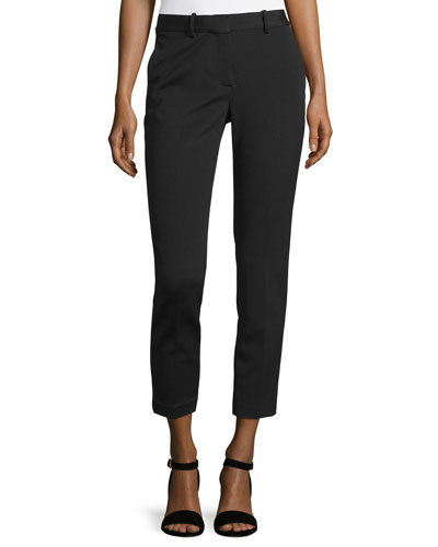 Treeca K Oxford Cropped Pants, Black