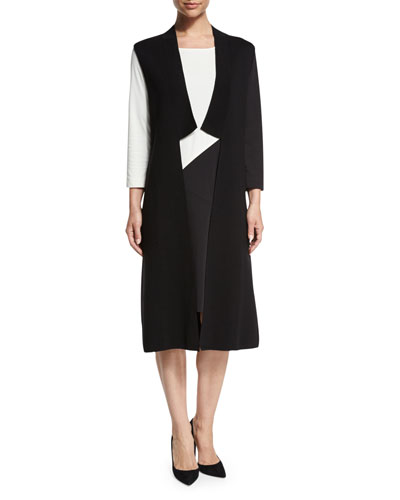 Milano Long Vest, Black