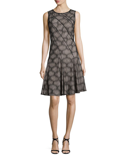 Cake Fit and Flare Cocktail Dress, Black