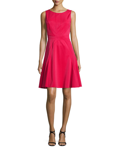 Clementine Fit and Flare Cocktail Dress, Barberry