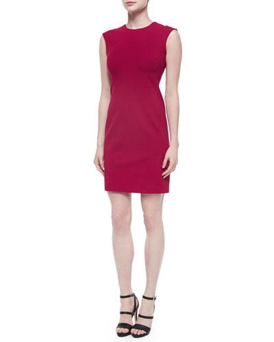 Jewel-Neck Sleeveless Shift Dress