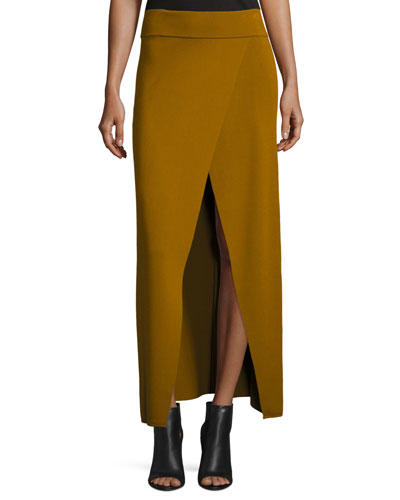 Muller Overlap Maxi Skirt, Honey