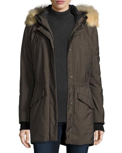 Hooded Oxford Coat, Lava