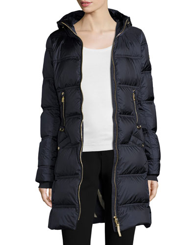 Lightweight Hooded Puffer Coat, Navy